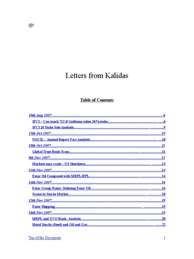 Kalidas derivative finance stocks fandeluxe Images