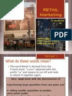 Retail Marketing Presentation Aug 29, 2011