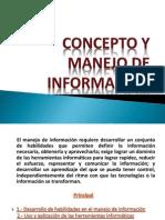 CONCEPTO Y MANEJO DE INFORMACION - copia