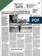 Manifestación contra el cementerio nuclear, 17 mayo 1987, El Norte de Castilla