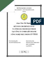 Ke Toan Chi Phi Sx Va Tinh Gia Thanh San Pham Tai Cong Ty Lien Doanh CNTP an Thai