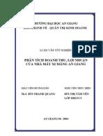 Phan Tich Doanh Thu Loi Nhuan Cua Nha May Xi Mang AG