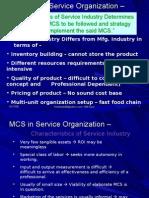 L27 MCS in Service Ind
