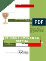 Manual de Intercesion 21 Dias Firmes en La Brecha
