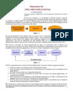 Dimensiones Del Clima Organizacional
