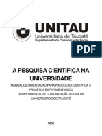 022- A Pesquisa CientÍfica Na Universidade