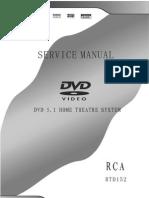 Home Theatre RCA RTD152 Service Manual