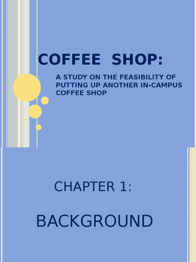 Business plan coffee shop pdf