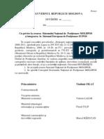Proiectul Hotaririi Guvernului Cu Privire La Crearea a Sistemului National de Pozitionare MOLDPOS Si Integrarea in Sistemul European de Pozitionare EUPOS