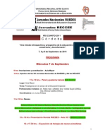 Programa Jornadas RUEDES-RECCEE