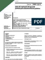 NBR 12213 NB 589 - Projeto de Captacao de Agua de Superficie Para Abastecimento Publico(1)