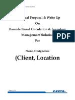 Barcode Proposal
