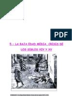 Unidad 5.- La Baja Edad Media. Crisis de Los Siglos XIV Y XV