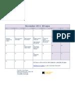 November 2011 El Cajon Class Calendar