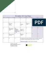 November 2011 San Diego Class Calendar