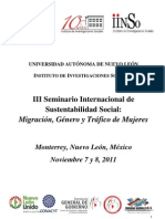 III Seminario Internacional de Desarrollo Sustentable Social