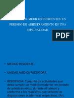 Trabajo de Medicos Residentes en Periodo de Adiestramiento