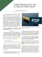 Virtual Planar Motion Mechanism Tests - Autosub