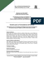 Quarto Relatório IPCC - Parte 1 - PORTUGUÊS