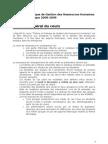 [GEST-D-306][D]Cadre Et Consignes Pour Le Cours (2008 - 2009)