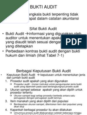 Bab 7 Bukti Audit Ppt 1