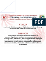 Batangas State University JPLPC Campus Vision and Mission