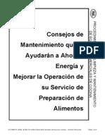 438-SP  Consejos de Mantenimiento que le Ayudarán a Ahorrar Energía y Mejorar la Operación de su Servicio de Preparación de Alimentos
