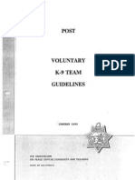 1993 k-9 guidelines