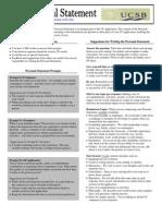 UCSB PersonalStatement Handout09