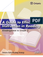 60174471 Guide to Effective Instruction in Reading Kindergarten to Grade 3