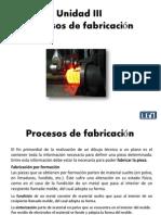 Clase 10 PF Clasificacion de los procesos de fabricación