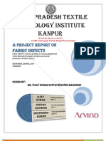 Project Report on Fabric Faults(Arvind Mills 2010)