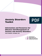 Psychology, Help) Anxiety Disorders Toolkit