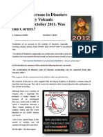 Predicted Increase in Disasters and Volcanic Activity in October 2011 Proves Correct