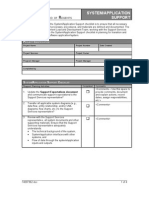 Application Support Model Template