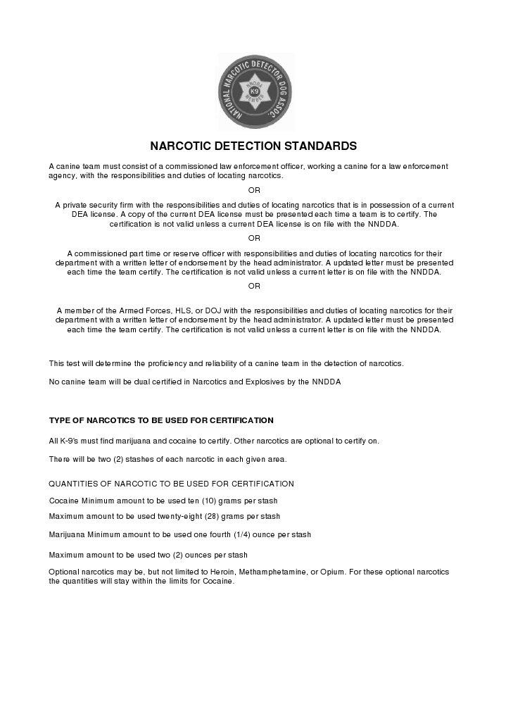 Nnddanarcoticsstandard12 Drug Enforcement Administration Narcotic