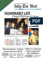 The Daily Tar Heel for November 1, 2011