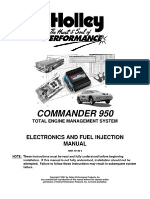 Holley Commander Instruct | Fuel Injection | Throttle