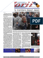 Torii U.S. Army Garrison Japan weekly newspaper, Mar. 31, 2011 edition