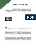 Origen y Desarrollo Del Planeta Tierra