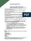 Postgraduate Scholarships Application Form
