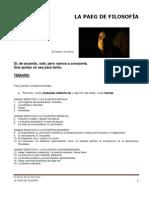 LA PAEG DE FILOSOFÍA. Instrucciones