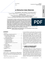 Negative Refractive Index Materials
