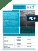 Beatrice Wind Farm Newsletter