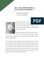 Molinari, Une approche de la démocratie économique