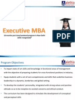 Executive MBA 2011 13