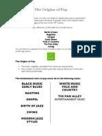 Origins of Pop - Rock and Roll