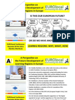 A Perspective on the Future Development of Learning Regions in Europe