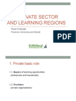 The Private Sector and Learning Regions