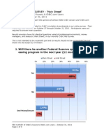 CNBC Fed Survey - Audience Results, October 31, 2011